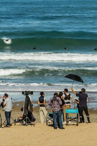 Tournage plage Côte basque - Agence du Film 64